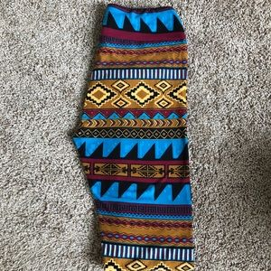 Brand new Aztec print Lularoe leggings